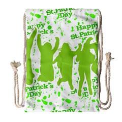 Saint Patrick Motif Drawstring Bag (Large)
