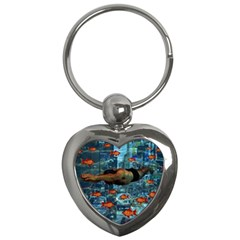 Urban swimmers   Key Chains (Heart)
