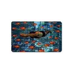 Urban swimmers   Magnet (Name Card)