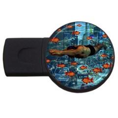 Urban swimmers   USB Flash Drive Round (4 GB)