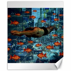Urban swimmers   Canvas 16  x 20
