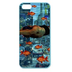 Urban swimmers   Apple Seamless iPhone 5 Case (Color)