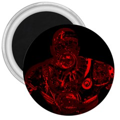 Warrior - red 3  Magnets