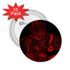 Warrior - red 2.25  Buttons (10 pack)