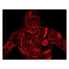 Warrior - red Rectangular Jigsaw Puzzl
