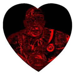 Warrior - red Jigsaw Puzzle (Heart)