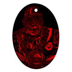Warrior - red Oval Ornament (Two Sides)