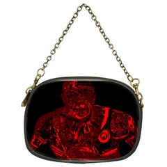 Warrior - red Chain Purses (Two Sides)