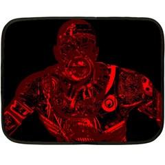 Warrior - red Fleece Blanket (Mini)