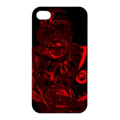 Warrior - red Apple iPhone 4/4S Hardshell Case