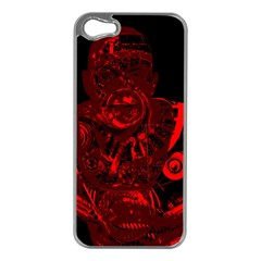 Warrior - red Apple iPhone 5 Case (Silver)