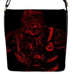 Warrior - red Flap Messenger Bag (S)