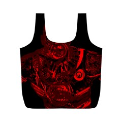 Warrior - red Full Print Recycle Bags (M)