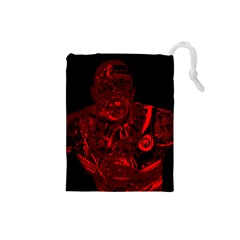 Warrior - red Drawstring Pouches (Small)