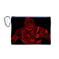 Warrior - red Canvas Cosmetic Bag (M)