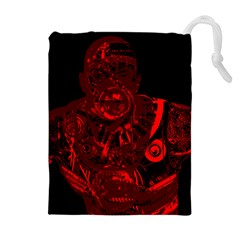 Warrior - red Drawstring Pouches (Extra Large)