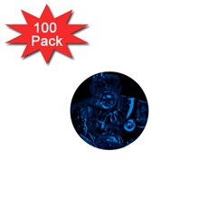 Warrior - Blue 1  Mini Buttons (100 pack)