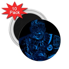 Warrior - Blue 2.25  Magnets (10 pack)