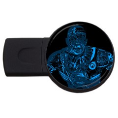 Warrior - Blue USB Flash Drive Round (1 GB)