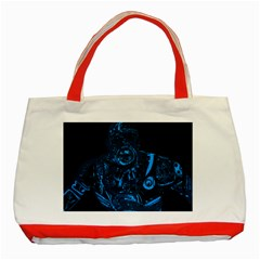 Warrior - Blue Classic Tote Bag (Red)