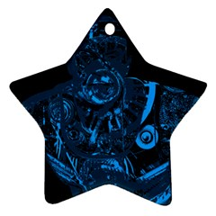 Warrior - Blue Star Ornament (Two Sides)