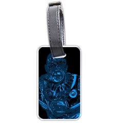 Warrior - Blue Luggage Tags (One Side)