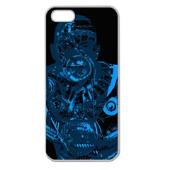 Warrior - Blue Apple Seamless iPhone 5 Case (Clear)