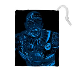 Warrior - Blue Drawstring Pouches (Extra Large)