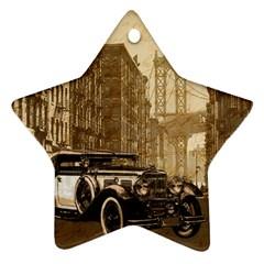 Vintage Old car Ornament (Star)