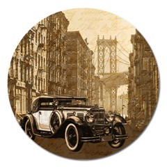 Vintage Old car Magnet 5  (Round)