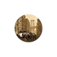 Vintage Old car Golf Ball Marker