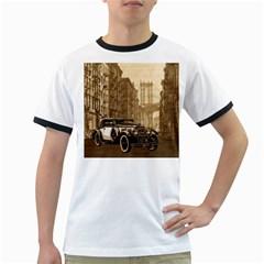 Vintage Old car Ringer T-Shirts