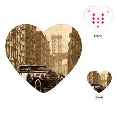Vintage Old car Playing Cards (Heart)