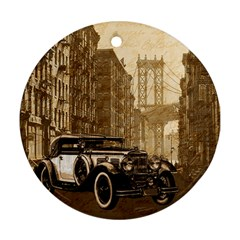 Vintage Old car Round Ornament (Two Sides)