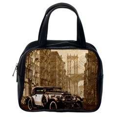Vintage Old car Classic Handbags (One Side)