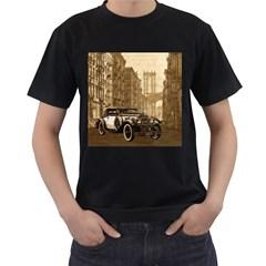Vintage Old car Men s T-Shirt (Black)