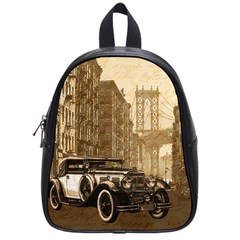 Vintage Old Car School Bags (small)