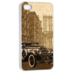 Vintage Old car Apple iPhone 4/4s Seamless Case (White)