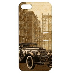 Vintage Old car Apple iPhone 5 Hardshell Case with Stand