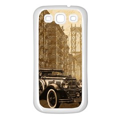 Vintage Old car Samsung Galaxy S3 Back Case (White)