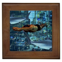 Urban swimmers   Framed Tiles