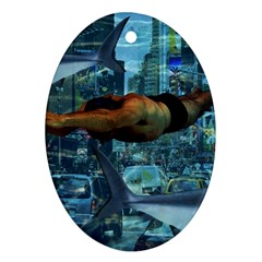 Urban swimmers   Ornament (Oval)