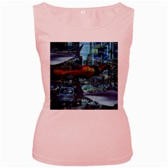 Urban swimmers   Women s Pink Tank Top
