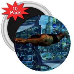 Urban swimmers   3  Magnets (10 pack)