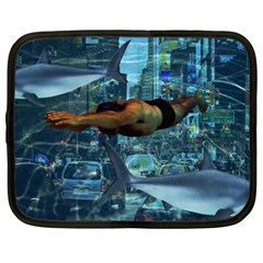 Urban swimmers   Netbook Case (Large)