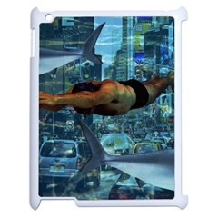 Urban swimmers   Apple iPad 2 Case (White)