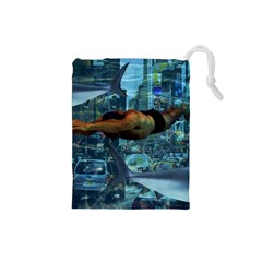 Urban swimmers   Drawstring Pouches (Small)