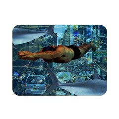 Urban swimmers   Double Sided Flano Blanket (Mini)