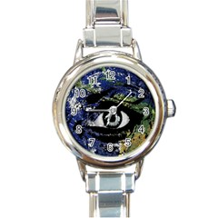 Mother Earth  Round Italian Charm Watch
