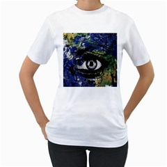 Mother Earth  Women s T-Shirt (White) (Two Sided)